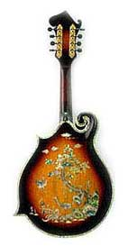 MandoHarp - 'Chalice' Hand-made F4-Style Mandolin with Abalone and Mother of Pearl Inlay